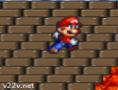 لعبة قفز سوبر ماريو فوق حفرة النار