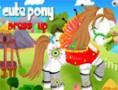 لعبة تلبيس حصان باربي الابيض