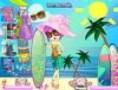 لعبة تلبيس جميلة الشاطىء
