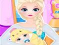 لعبة الملكة إلسا تلد طفلة