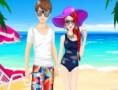 لعبة زوجين في عطلة الصيف