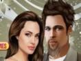 لعبة تلبيس براد بيت وانجلينا جولي